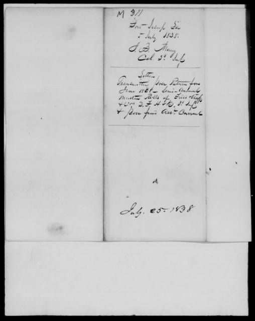 Many, J B - State: Louisiana - Year: 1838 - File Number: M311