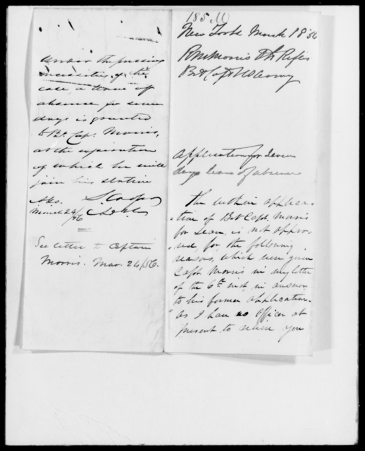 May, Chas A - State: Pennsylvania - Year: 1856 - File Number: M185