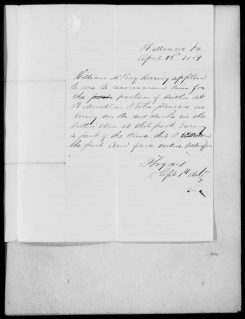 McKay, William - State: Virginia - Year: 1859 - File Number: M158