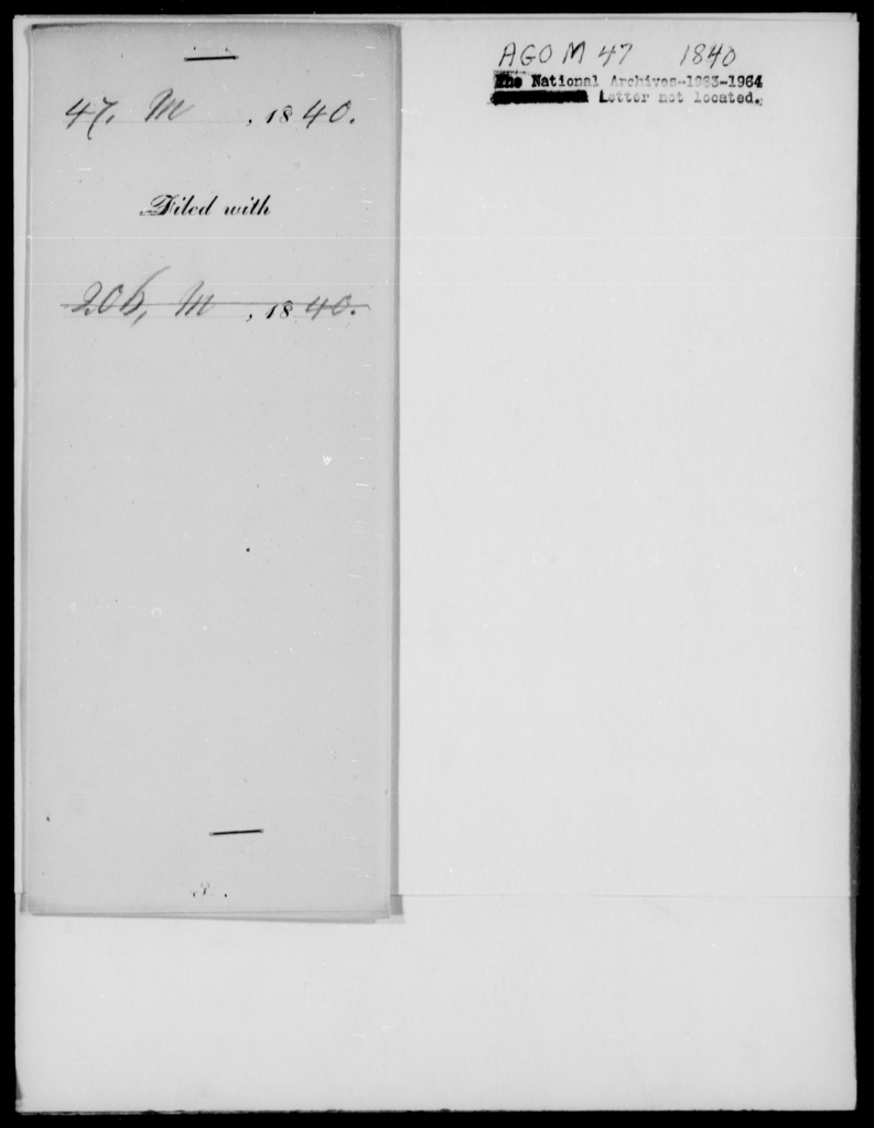 Morish, Lewis N - State: New York - Year: 1840 - File Number: M47