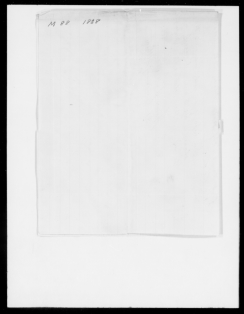 Morris, G - State: District of Columbia - Year: 1838 - File Number: M88
