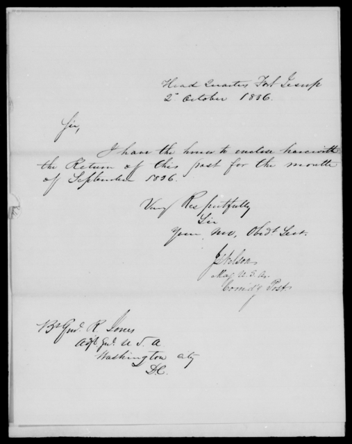 Nelson, J S - State: Louisiana - Year: 1836 - File Number: N48