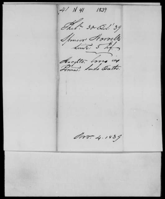 Norvell, Spencer - State: Michigan - Year: 1839 - File Number: N41