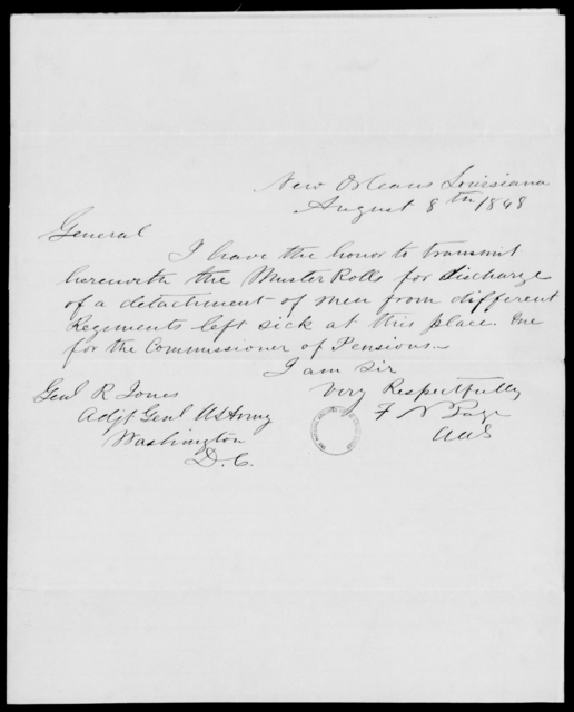 Page, F N - State: Louisiana - Year: 1848 - File Number: P315
