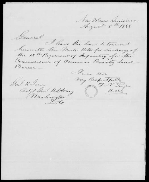 Page, F N - State: Louisiana - Year: 1848 - File Number: P316