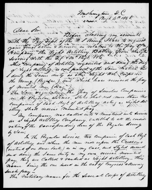 Parris, Albion K - State: District of Columbia - Year: 1848 - File Number: P294