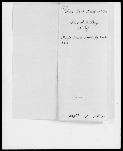 Peay, John C - State: Kentucky - Year: 1848 - File Number: P137