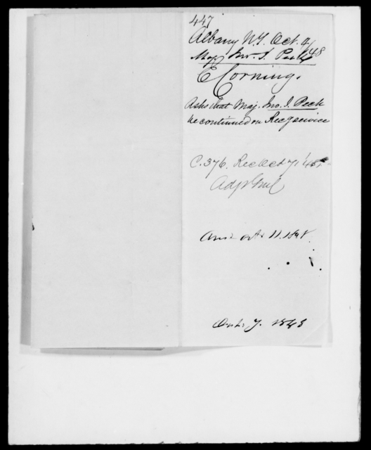 Peck, John J - State: New York - Year: 1848 - File Number: P447