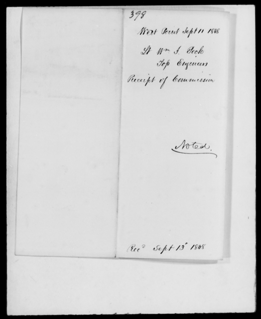Peck, William G - State: [Blank] - Year: 1848 - File Number: P398