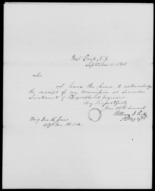Peck, William G - State: New York - Year: 1848 - File Number: P398