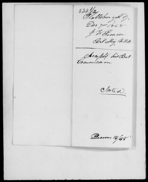 Penrose, Jas W - State: New York - Year: 1848 - File Number: P534