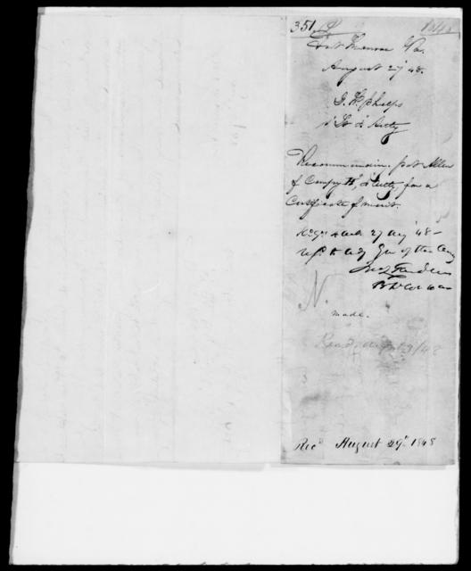 Phelps, J W - State: Virginia - Year: 1848 - File Number: P351