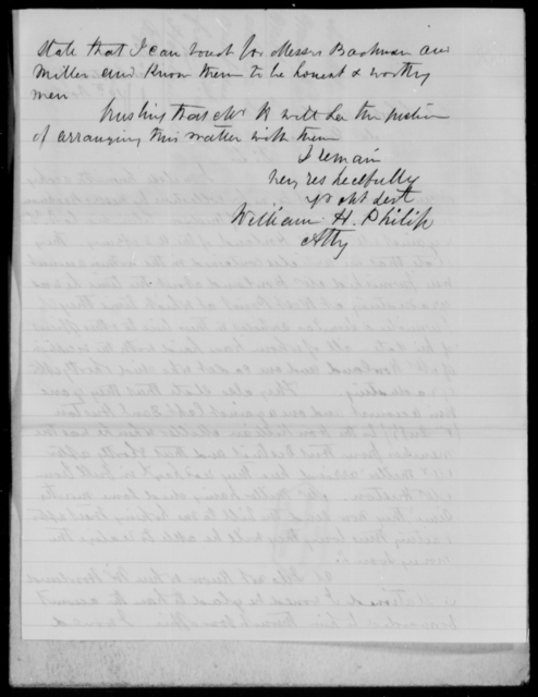 Philip, William H - State: [Blank] - Year: 1859 - File Number: P255