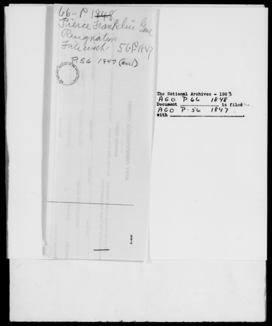 Pierce, Franklin - State: [Blank] - Year: 1848 - File Number: P66