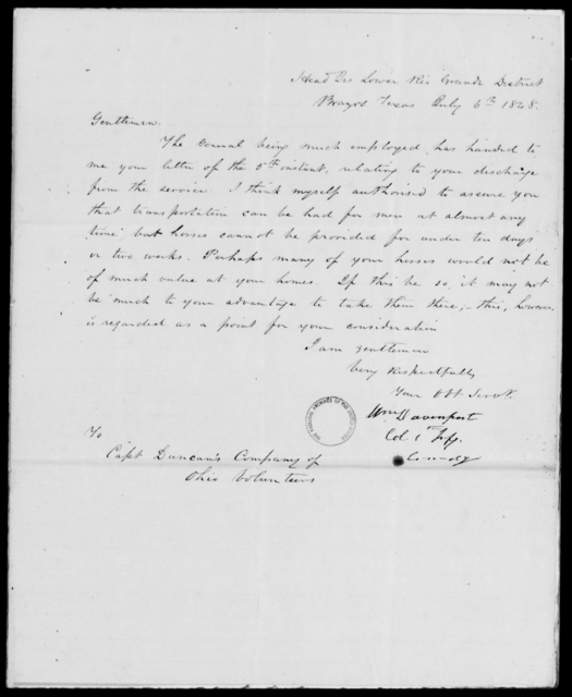 Plummer, Jno - State: Texas - Year: 1848 - File Number: P302
