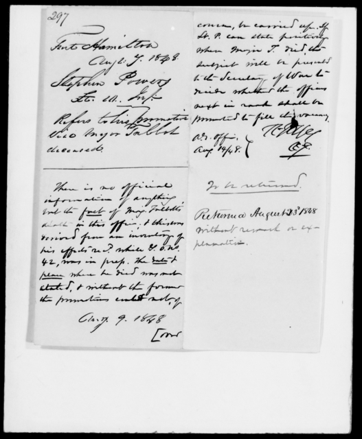 Powers, Stephen - State: [Blank] - Year: 1848 - File Number: P297