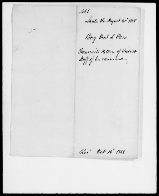 Price, Sterling - State: [Blank] - Year: 1848 - File Number: P461