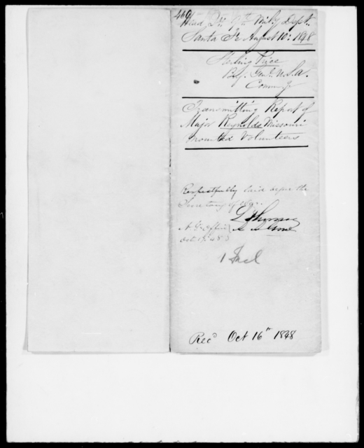 Price, Sterling - State: Missouri - Year: 1848 - File Number: P460