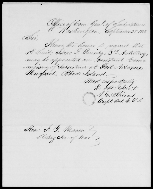 Quinby, Isaac F - State: Washington - Year: 1848 - File Number: Q24