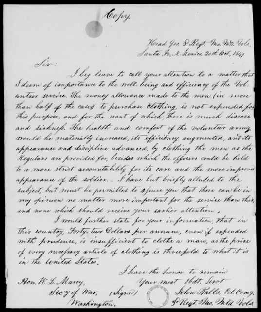 Ralls, John - State: New Mexico - Year: 1848 - File Number: R117