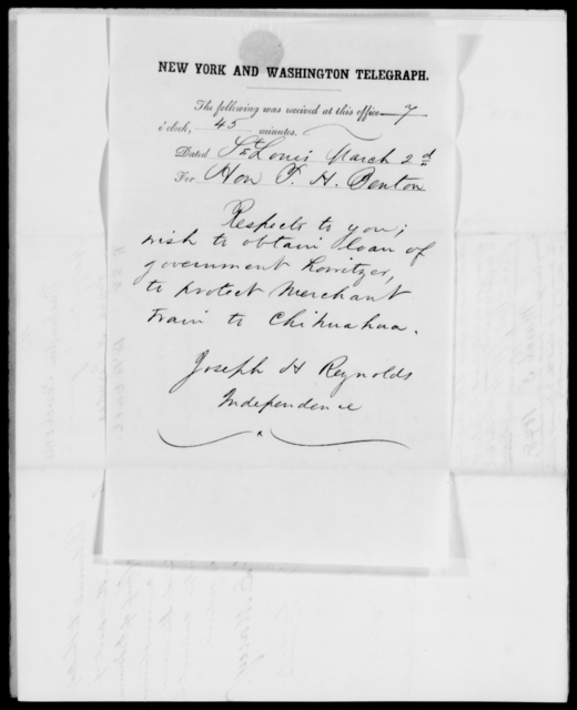 Reynolds, Joseph H - State: New York - Year: 1848 - File Number: R88