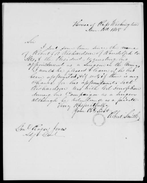 Richardson, Robert F - State: Washington - Year: 1848 - File Number: R13
