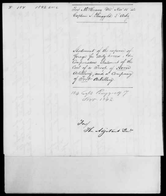 Ringgold, S - State: Maryland - Year: 1842 - File Number: R184