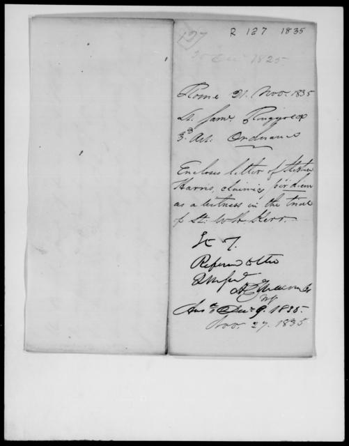 Ringgold, Saml - State: [Blank] - Year: 1835 - File Number: R127