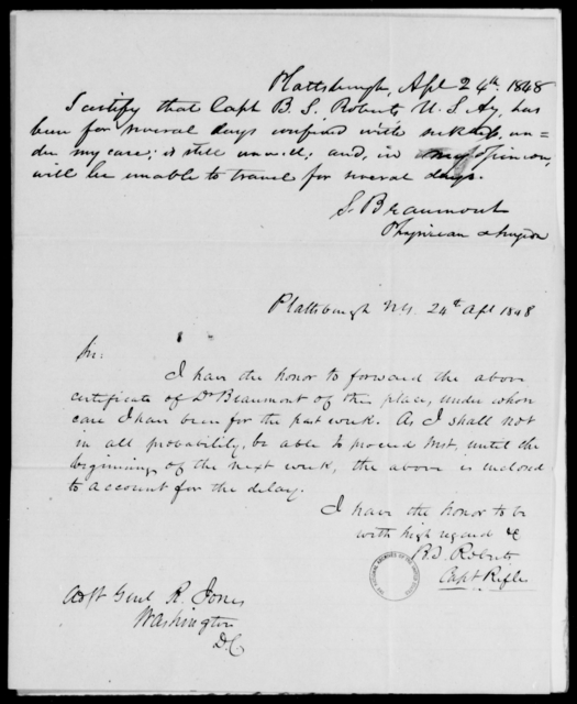 Roberts, B S - State: [Blank] - Year: 1848 - File Number: R171