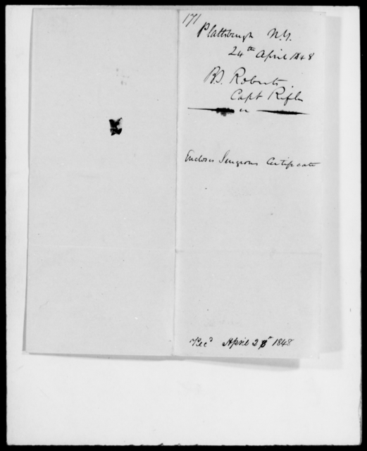 Roberts, B S - State: New York - Year: 1848 - File Number: R171