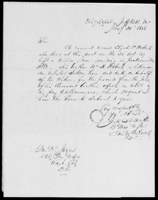 Roberts, Elijah P - State: Missouri - Year: 1848 - File Number: R50