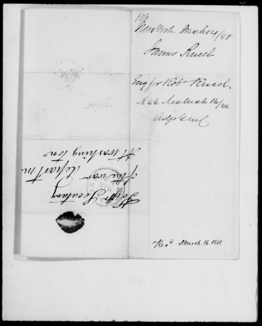 Rusel, James - State: New York - Year: 1848 - File Number: R106