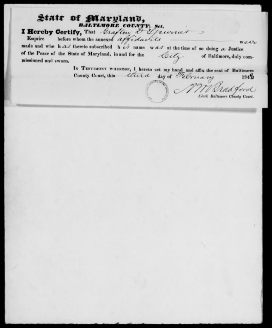 Russell, Joseph - State: Maryland - Year: 1848 - File Number: R49