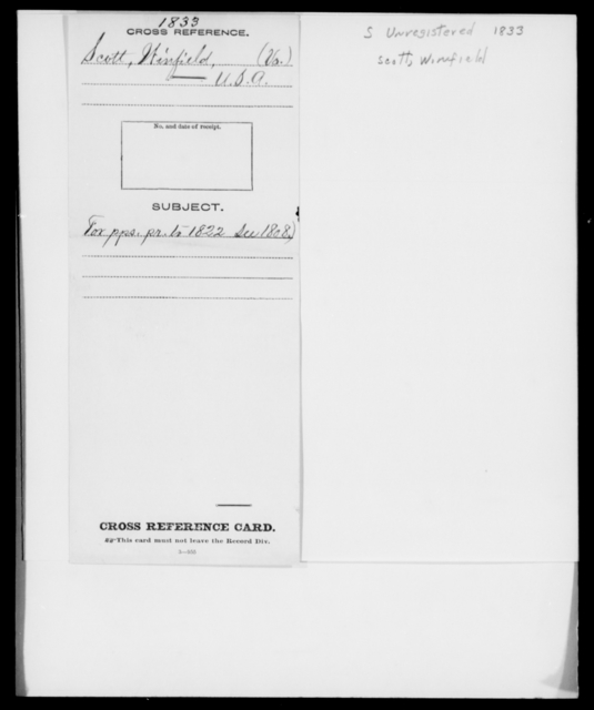 Scott, Winfield - State: [Blank] - Year: 1833 - File Number: S264