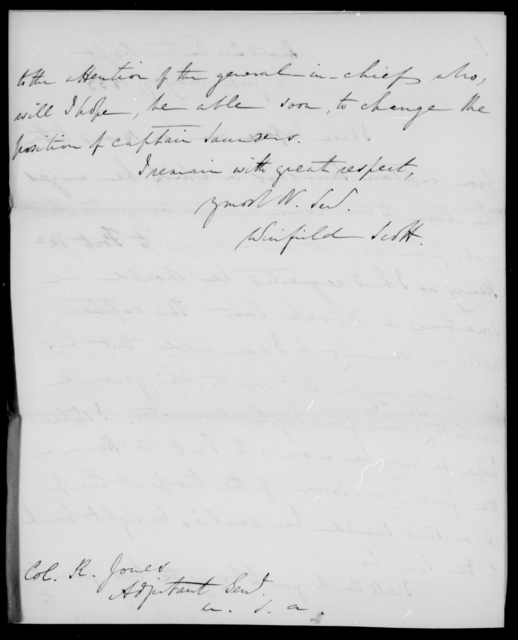 Scott, Winfield - State: New York - Year: 1833 - File Number: S99