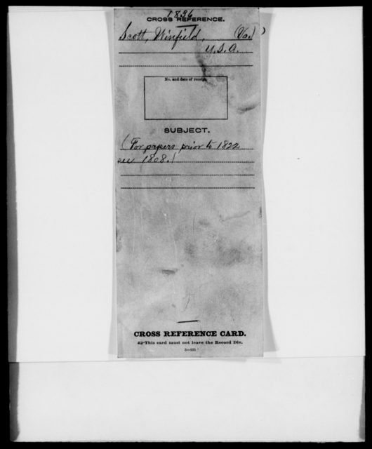 Scott, Winfield - State: Virginia - Year: 1836 - File Number: S333