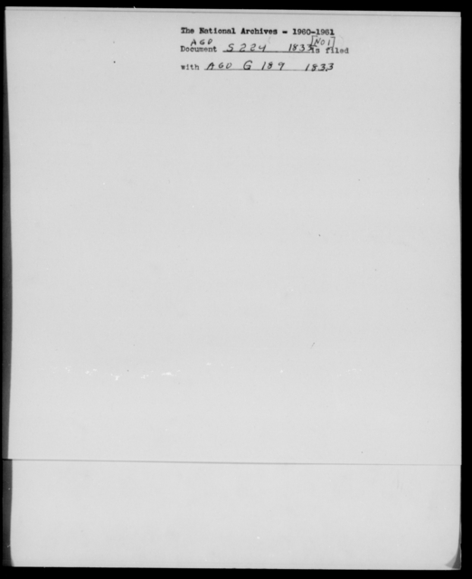 Sidell, W H - State: [Blank] - Year: 1833 - File Number: S224