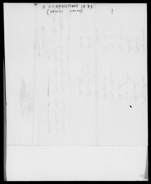 Smith, Henry - State: [Blank] - Year: 1833 - File Number: S264