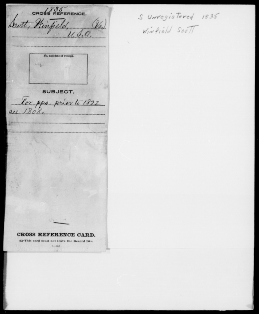 Stow, Winfield - State: New York - Year: 1835 - File Number: [Blank]
