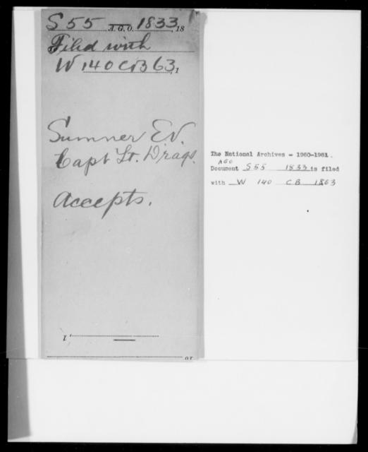 Sumner, E V - State: [Blank] - Year: 1833 - File Number: S55