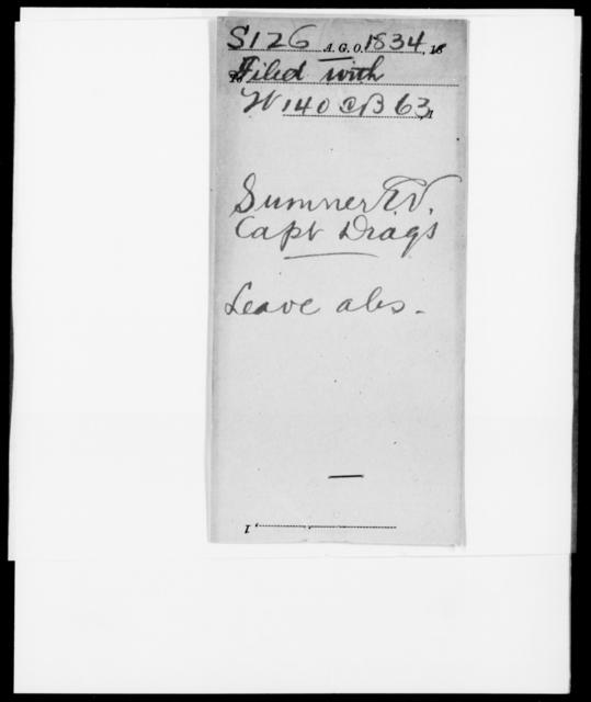 Sumner, E V - State: [Blank] - Year: 1834 - File Number: S126