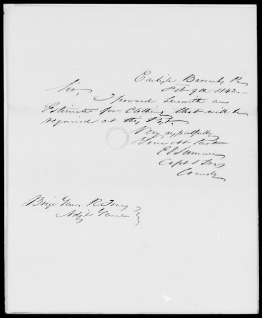 Sumner, E V - State: Pennsylvania - Year: 1842 - File Number: S33