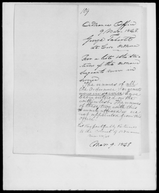 Talcott, George - State: [Blank] - Year: 1848 - File Number: T109