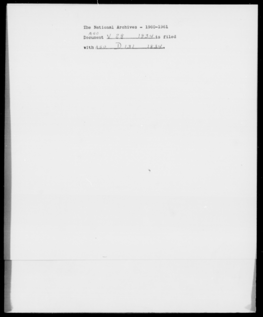 Vinton, J R - State: District of Columbia - Year: 1834 - File Number: V28