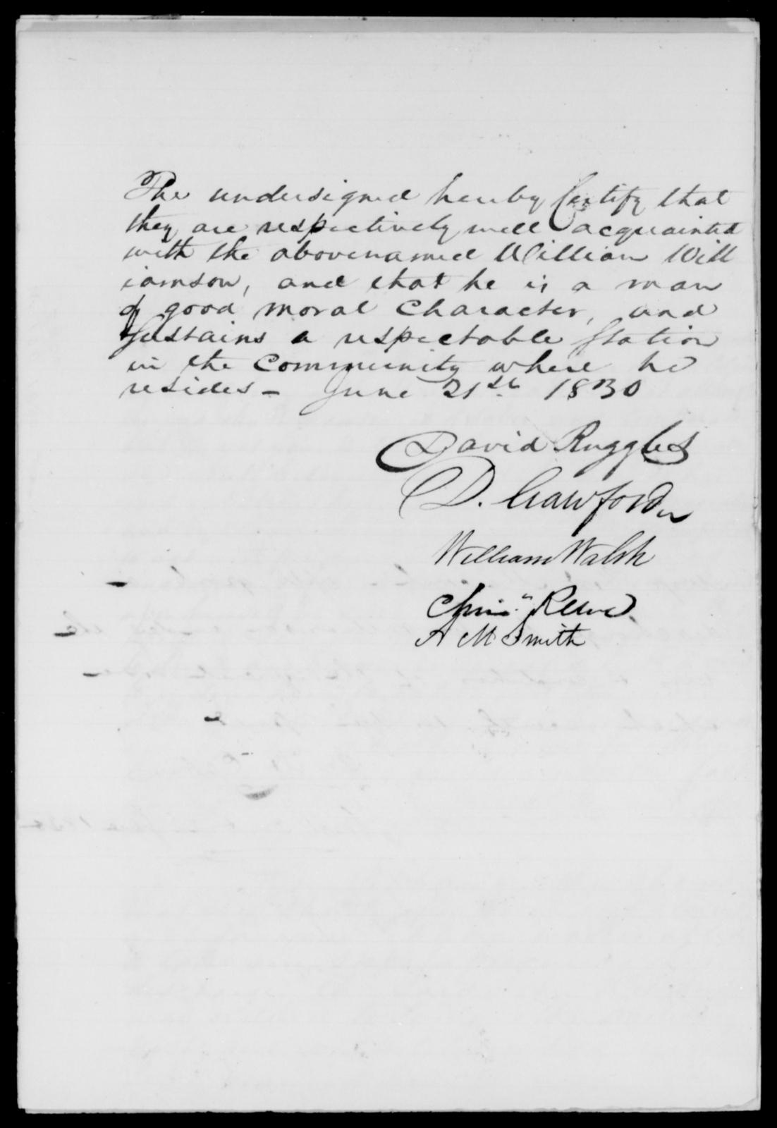 Wade, John - State: [Blank] - Year: 1830 - File Number: W100