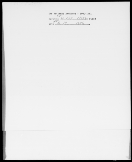 Walback, J B - State: Missouri - Year: 1835 - File Number: W285