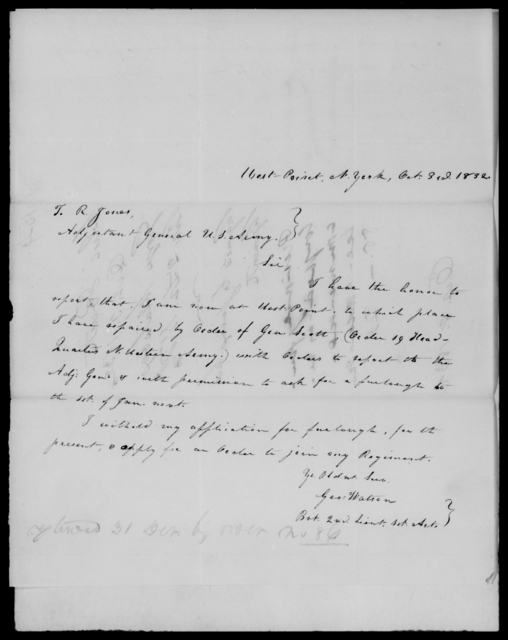 Watson, George - State: District of Columbia - Year: 1832 - File Number: W154