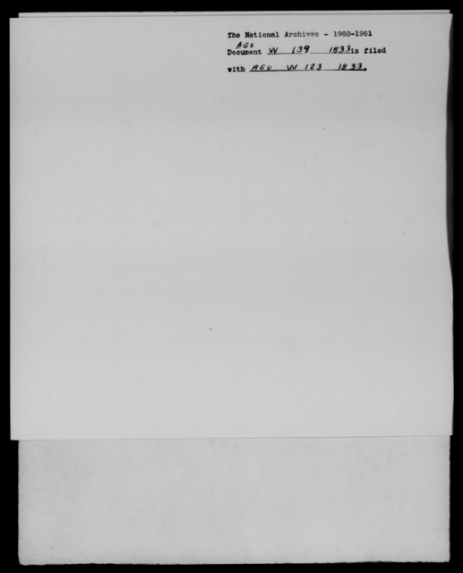 Whiting, [Blank] - State: [Blank] - Year: 1833 - File Number: W139