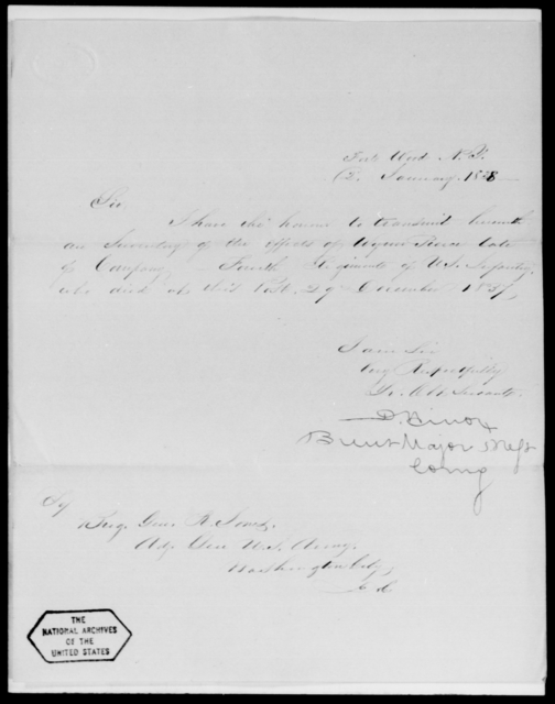 Wilcox, D - State: New York - Year: 1838 - File Number: W2