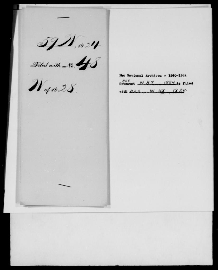 Willard, W T - State: New York - Year: 1824 - File Number: W59